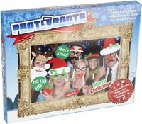 Christmas Deluxe 25pc Prop Selfie Photo Booth Vintage Style Picture Frame Gift