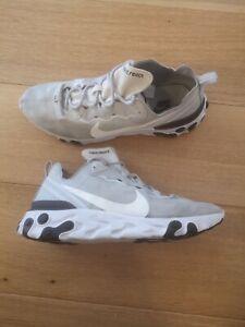Nike React Element 55 Pure Platinum Grey Shoes Size UK 11