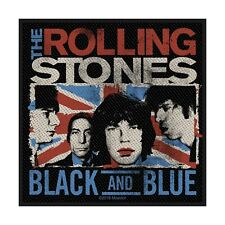 THE ROLLING STONES - Patch Aufnäher Black and Blue 10x10cm
