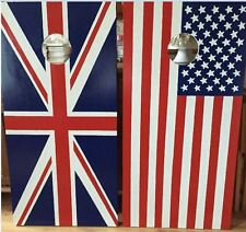US and Union Jack Flag Cornhole boards and Free Bags