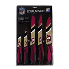 San Francisco 49ers Kitchen Knife Set - 5 Pack [NEW] NFL Chef Chop Chef Knives