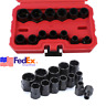 13x Deformed Bolt Remover Socket Set Rusty Nut Extractor Wrench Tool Car Repair