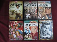 (6) Mill Creek Classic-TV DVD Sets Lucy, Carson, Jack Benny, Westerns, Bonanza