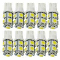10PCS White T10 Wedge 9 SMD 5050 Car LED Light bulbs W5W 2825 158 192 168 194