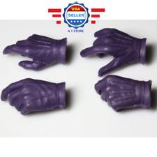 1/6 scale Batman Joker PURPLE Gloved Hand for Hot Toys ZC Body DX11 DX01