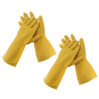 2 Paar lange Handschuhe Hochleistungs Naturlatex Gummihandschuhe Grip Garden