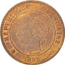 Monnaies, France, Cérès, 2 Centimes, 1893, Paris, TTB+, Bronze #99864