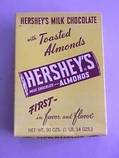 Hershey's Milk Chocolate With Toasted Almonds Vintage Candy Box - Empty