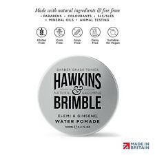 Hawkins & Brimble Hair Pomade,100ml Mens Water Pomade Firm Hold Wet Look Styling