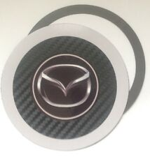Magnetic Tax disc holder fits any mazda rx-8 mx-3 white a