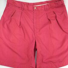 Faconnable Pleated Walking Shorts 36 / 38 Adjustable Salmon Pink Albert Goldberg