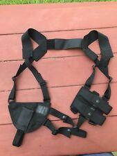 Black Hawk Shoulder Holster And Double Mag Carrier Black