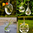 Hole Glass Angel Shape Flower Plant Stand Hanging Vase Office Wedding Decor