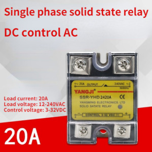 Single-phase DC controlled AC DC-AC SSR solid state relay YHD2420A 240VAC 20A