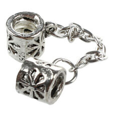 """6 Silver Plated Safety Chain Fit Charm Bracelet 0.27"""" Hot a B4m7 W4u3"""