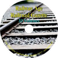 33 Volumes - Railway Age Railroad Gazette – Vintage News Journal Books on DVD