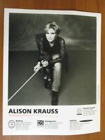 Vtg Glossy Press Photo Country Singer Alison Krauss When You Say Nothing At All