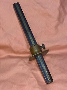 Antique F. Hunnewell Mortise Marking Gauge ~ Brass & Wood ~ Carpenter Tool NICE