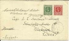 Leeward Islands SG#59,#62 St Kitts 13/JA/38 to England, redirected