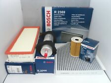 Audi A4 2.0 TDI Service Kit Oil Air Fuel Cabin Filter 2007 to 2015 BOSCH OPT2