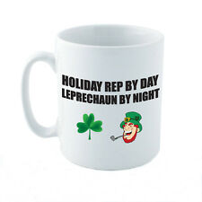 HOLIDAY REP BY DAY LEPRECHAUN - Travel / St Patrick's Day Themed Ceramic Mug