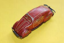 Antik Spielzeug Blech Auto mit Mechanik 10cm rot 30-50erJ funktioniert nicht