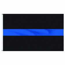 New listing Thin Blue Line 3'X5' Usa Police Flag Law Enforcement Support Banner 2 Grommets