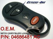 01-03 DODGE CARAVAN LOGO KEYLESS ENTRY REMOTE OEM KEY FOB P/N: 04686481 AC