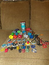HUGE Lot Assorted BEY BLADES Parts Rip Cords Spinners Metal & Plastic (*g9)