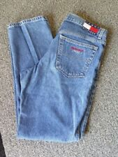 90's Tommy Hilfiger Big Flag Jean Blue Straight Leg High Waist Jeans Size 11/31