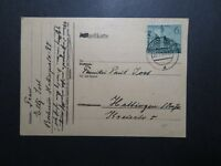 Germany 1940 Postcard w/ 6pf Messe Issue - Z12141