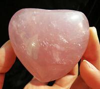 5A++ Top !! natural rose quartz crystal carving heart