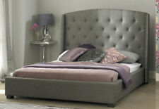 BED SALE! SIGNATURE FABRIC BED IN GREY BRAND NEW DESIGNS 4FT6 DOUBLE HANDMADE UK