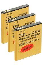 3x 2450mAh High Capacity Batteries -Samsung Galaxy S2 T-Mobil T989 Skyrocket 727