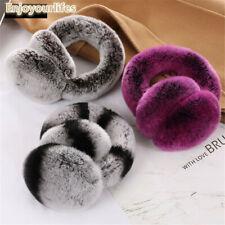 Rose frost Fur Earmuff Real Rex Rabbit Fur Earmuffs Unisex Ear Muff