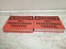 Lyle U6-1170-RA_14X10 100 Pk 10 In H 14 In W No Pedestrian Traffic Warning Sign