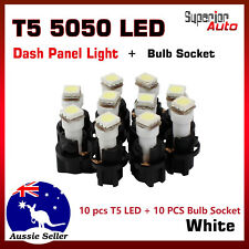10x T5 LED + Socket Holder For Instrument Panel Dash board Replace Bulbs White