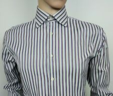 Ted Baker Endurance Mens Dress Shirt Purple Blue Stripe 16 - 40.5 RRP£70