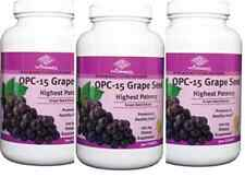 3 bottles OPC-15 Grape Seed Extract (300 Tablets / bottle) highest potency