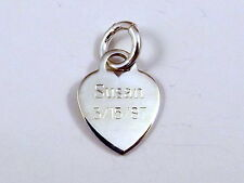 Sterling Silver HEART Charm  with FREE ENGRAVING! -0404