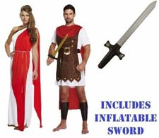 ROMAN GLADIATOR TOGA Fancy Dress Costume Mens Ladies Couples Adults Accessories