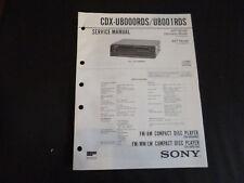 Original Service Manual Sony CDX-U8000RDS/U8001RDS