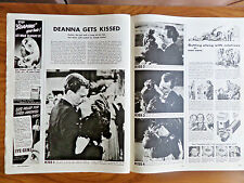 1943 Movie Article Ad Hers to Hold Cotten & Durbin  the Kiss