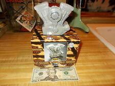 LARGE HARLEY DAVIDSON ENGINE SALT & PEPPER SHAKERS BY VENDOR NEW IN BOX!