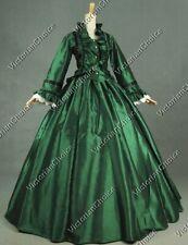 Victorian Green Dickens Faire Caroler Dress Ball Gown Halloween Costume