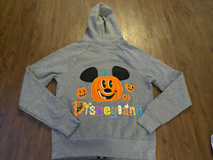 NWT Disney Halloween Hoodie Women's XS Disneyland Mickey Mouse Zip Up