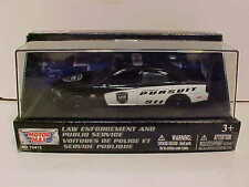 2011 Dodge Charger Pursuit Police Diecast Car 1:43 Motormax 5 inch B/W