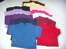 """1 T- Shirt  your color choice fits 18"""" American Girl Doll Handmade"""