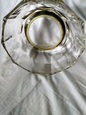 """Vintage Glass Bowl Silverplate Base""""Italy"""""""