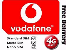 Vodafone PAYG Pay As You Go Nano 4G Sim Card for iPhone 5, 6, 7 Plus S5,S6,S7 A5